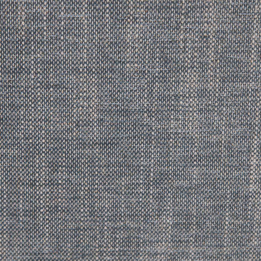 Méridienne droite en tissu bleu chambray - Eugénie