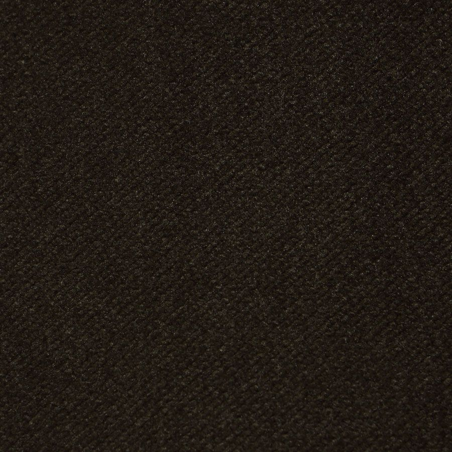 Méridienne gauche en hévéa noir et velours kaki - Eugénie