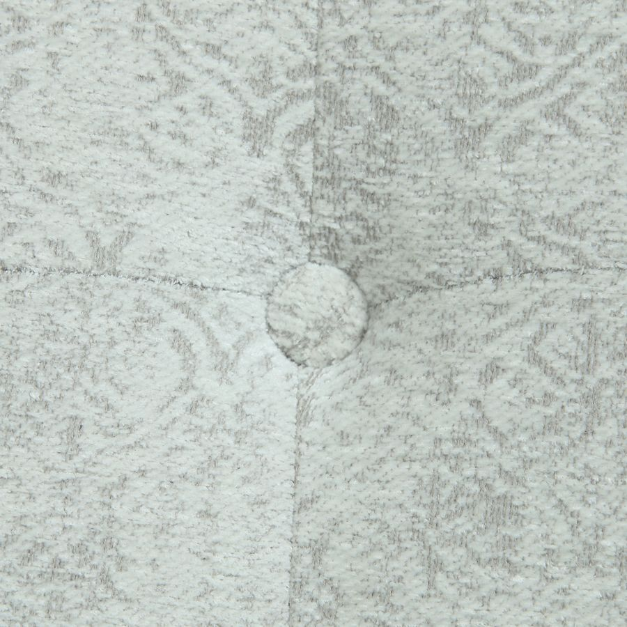 Méridienne gauche en tissu arabesque perle - Eugénie