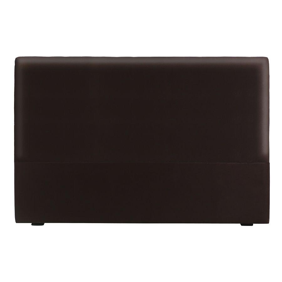 Tête de lit effet cuir chocolat 180 cm sans capitons - Capucine