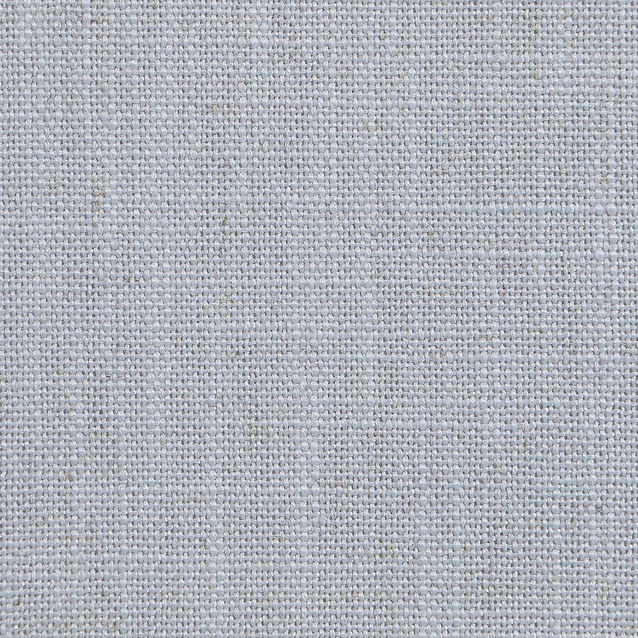 Chaise médaillon en tissu bleu glacier - Hortense