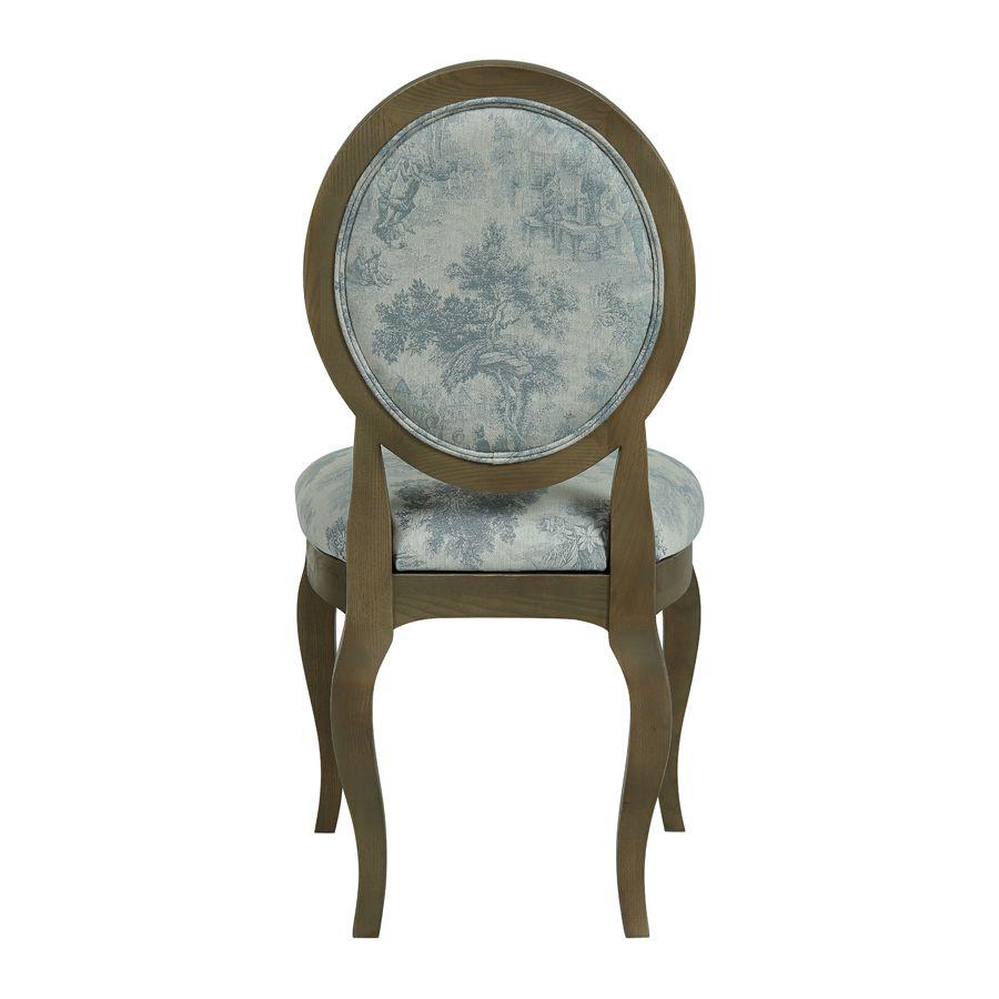 Chaise médaillon en tissu toile de Jouy - Hortense