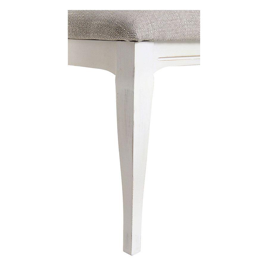 Chaise médaillon en tissu losange gris - Hortense