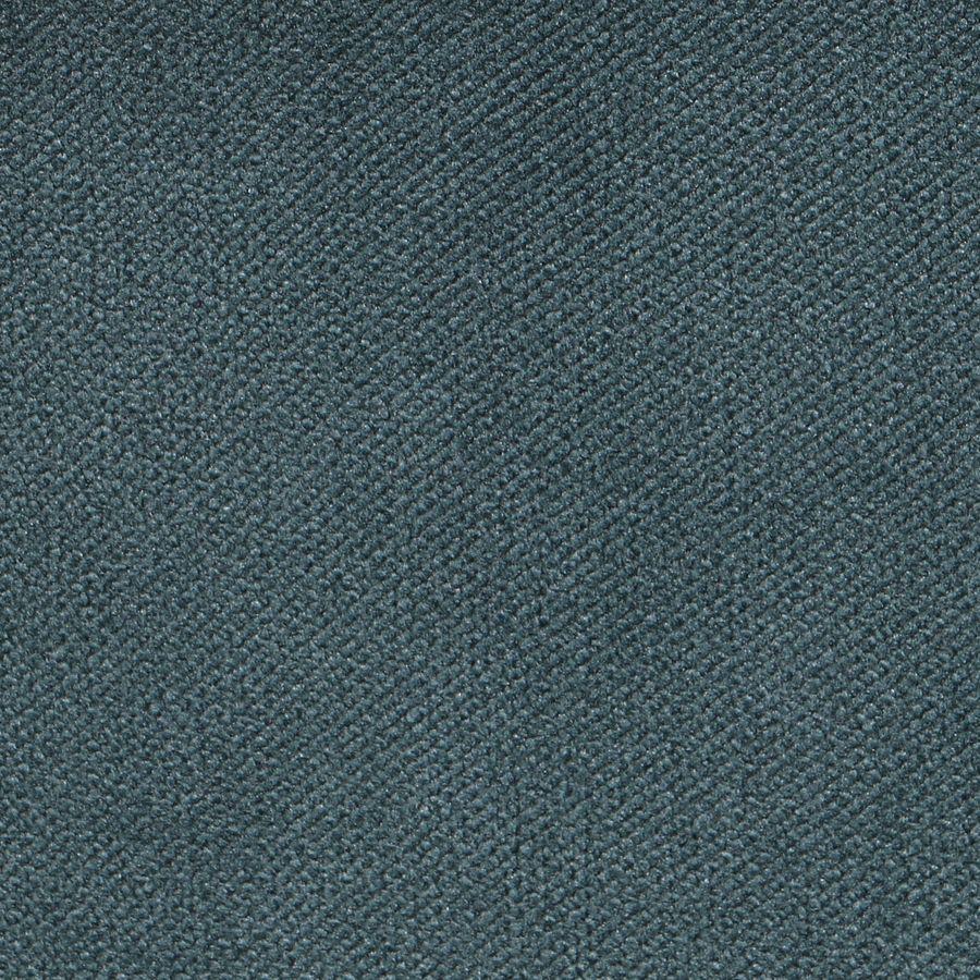 Chaise médaillon en velours vert bleuté et hévéa massif blanc - Hortense