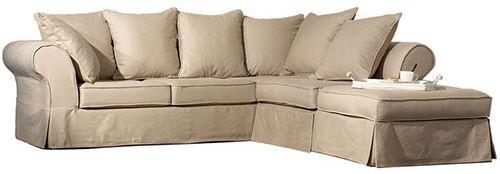 Canapé d'angle grand format: le Wilson II