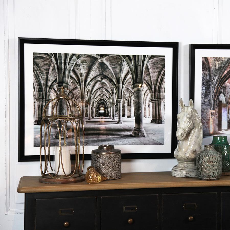 Tableau en bois photo colonnes