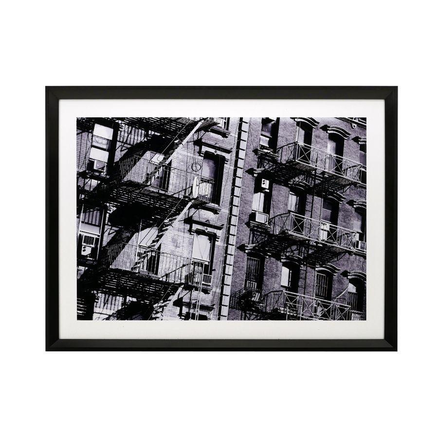 Tableau en bois noir photo New York