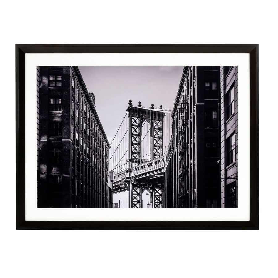 Tableau en bois photo Manhattan