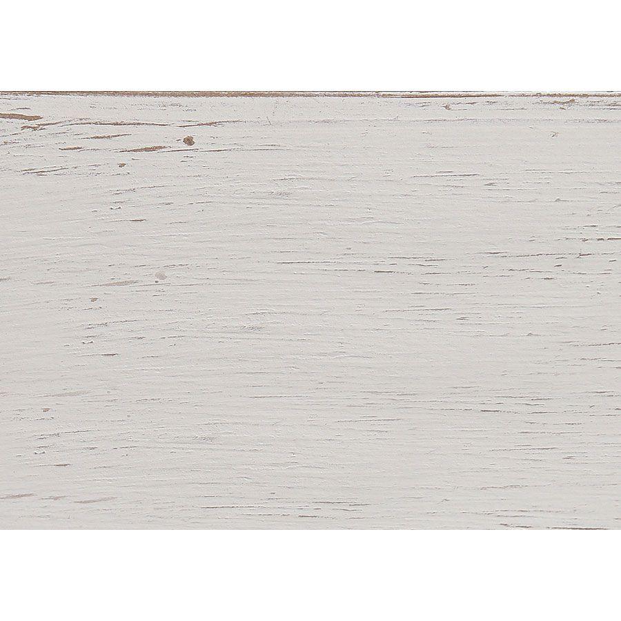 Armoire penderie 2 portes en pin massif blanc vieilli - Château