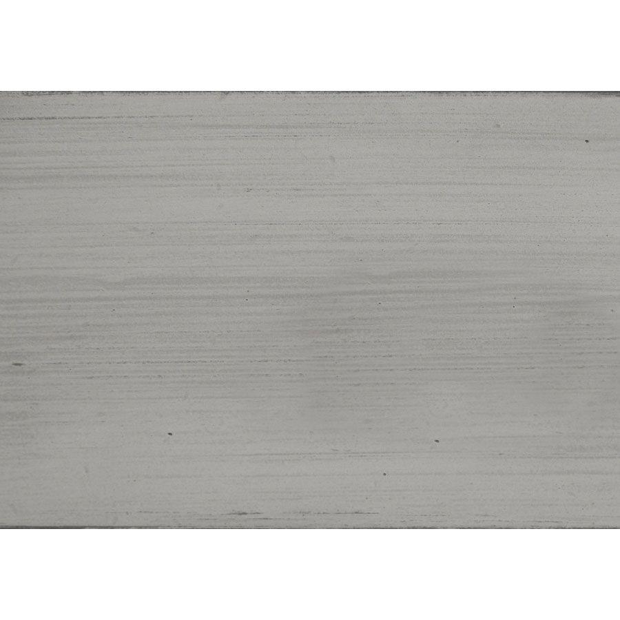 Commode 3 tiroirs en pin massif gris argenté - Château