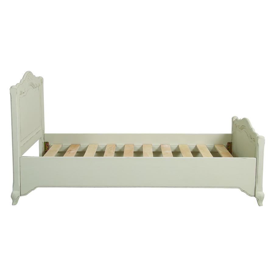 Lit enfant 90x190 en pin blanc vieilli - Château