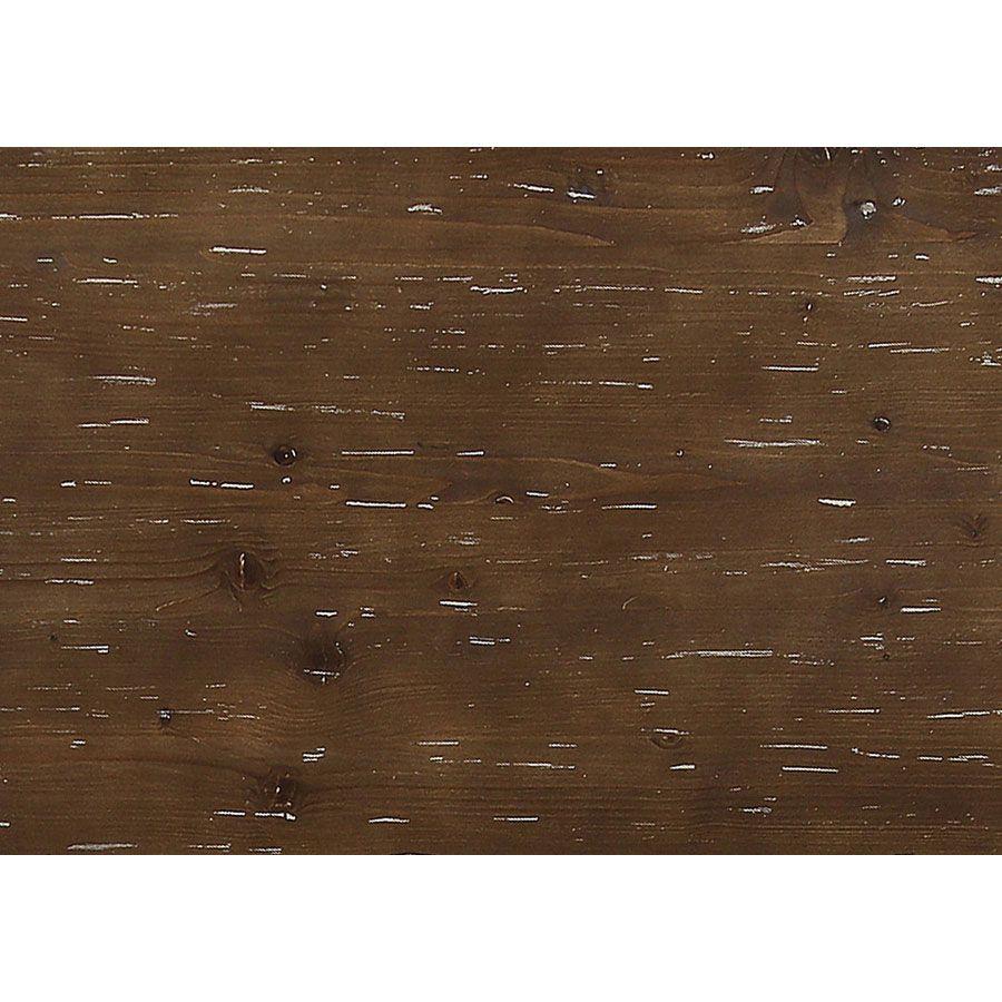 Buffet bas 2 portes en pin grège vieilli - Château