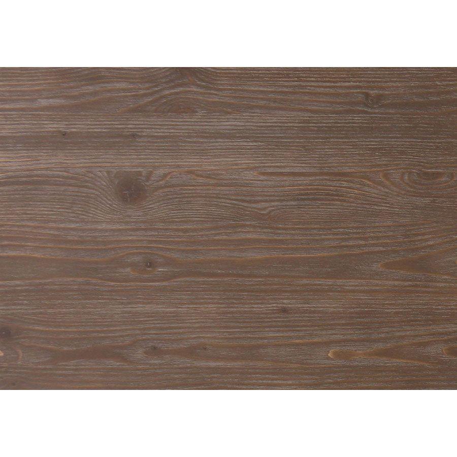 Commode 4 tiroirs en pin gris argenté L106 cm - Château