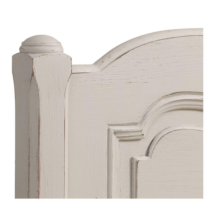 Lit 180x200 en pin blanc vieilli - Château