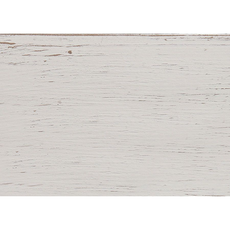 Lit 160x200 en pin massif blanc vieilli - Château
