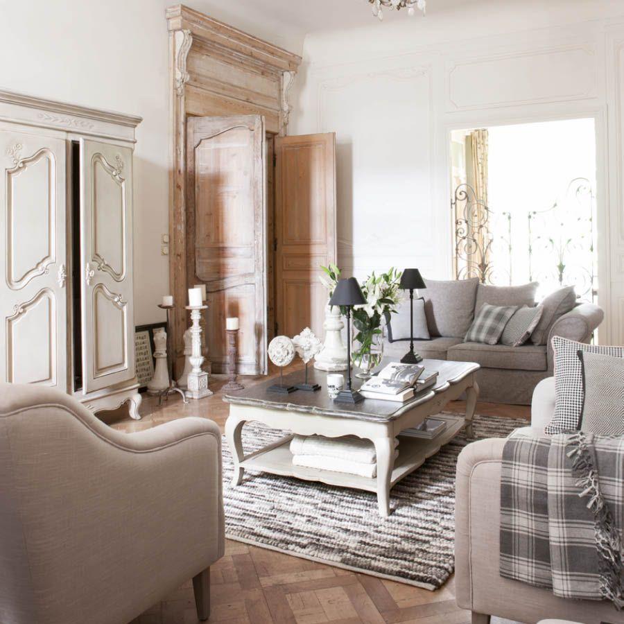 Table basse rectangulaire en pin - Château