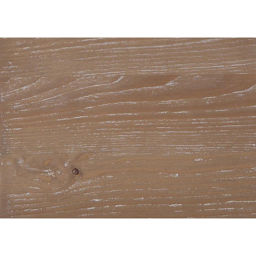 Table basse rectangulaire en pin blanc vieilli avec rangement - Château