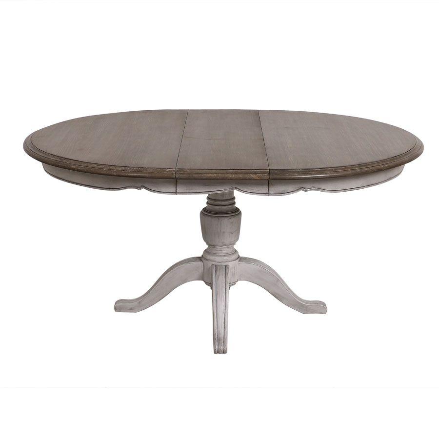 Table Ronde Extensible En Pin 8 Personnes Chateau Tables
