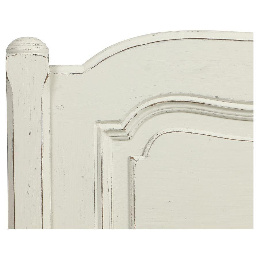 Tête de lit 160 en pin massif blanc vieilli - Château