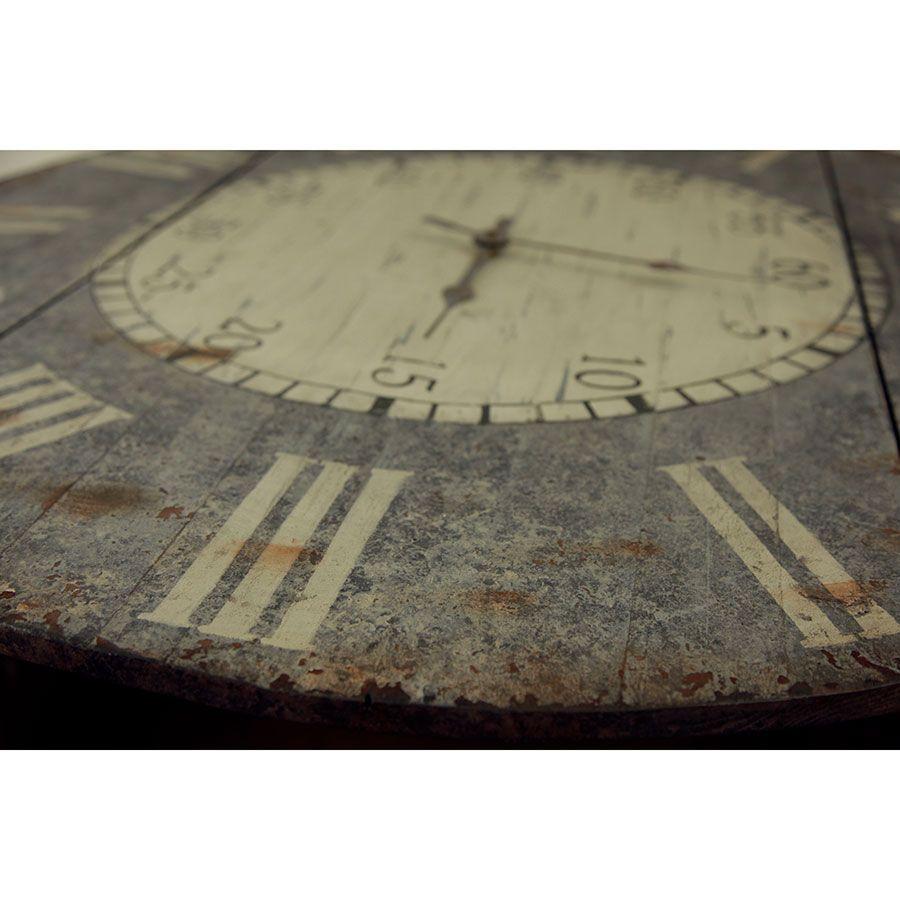Horloge en bois vieilli