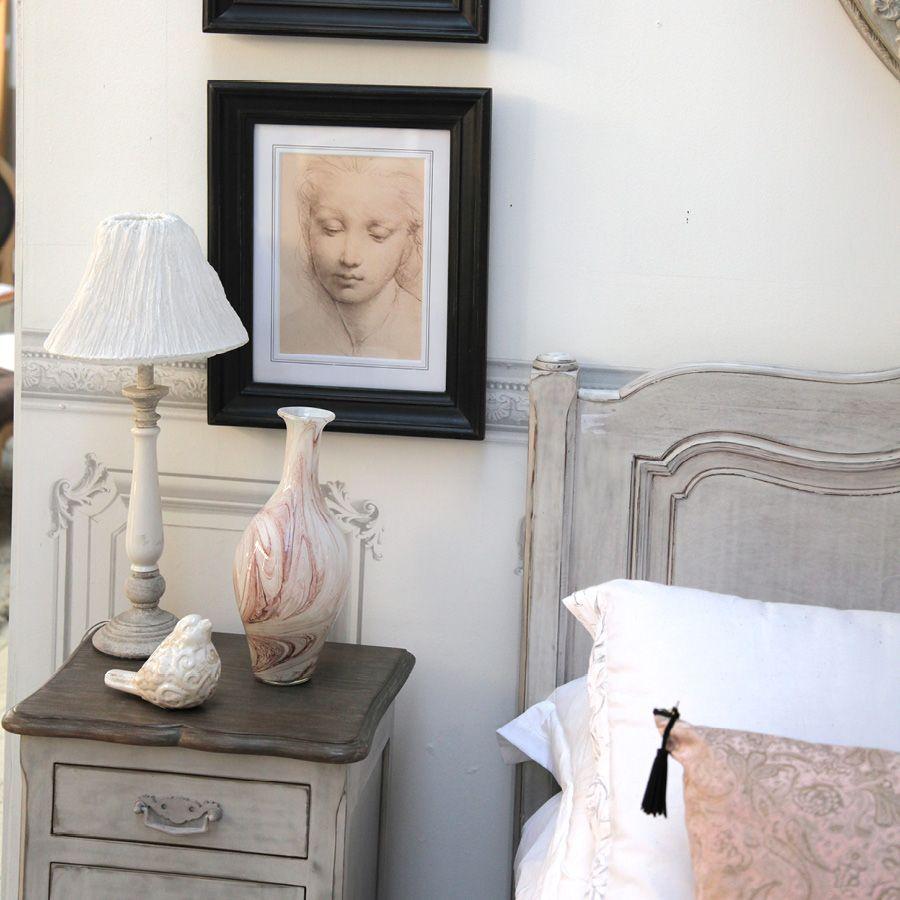 Lampe en bois et céramique