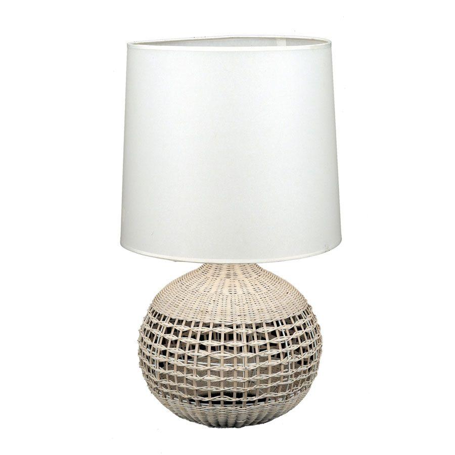 Lampe en rotin XL