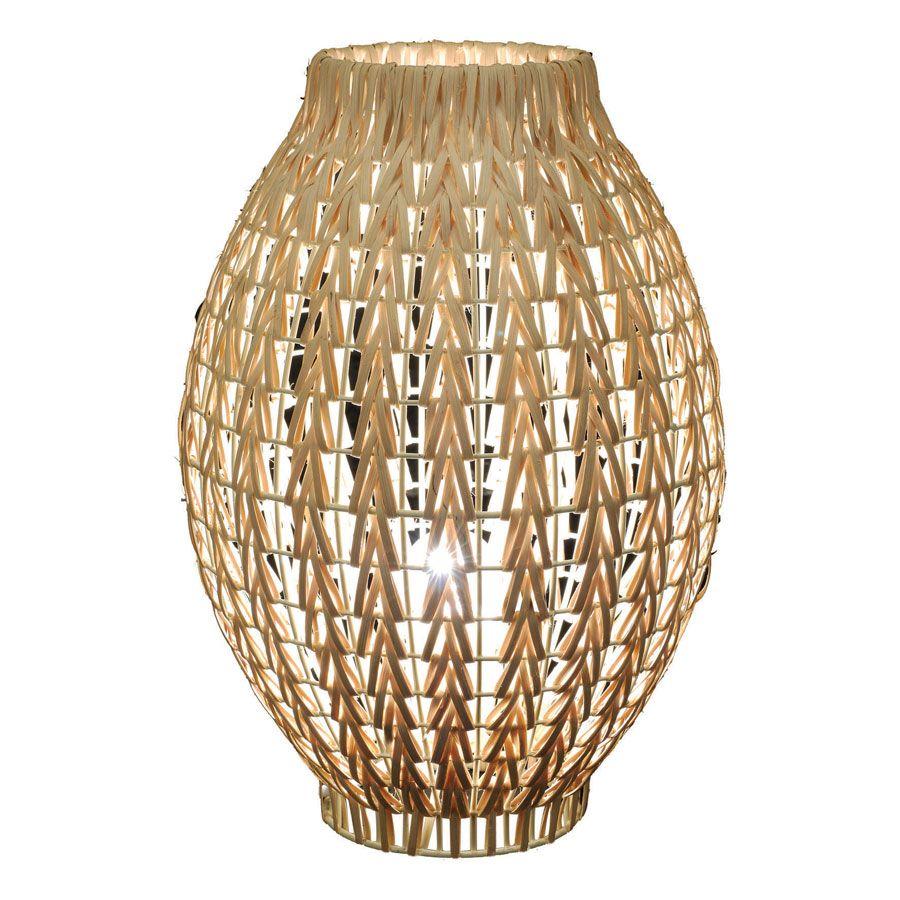 Lampe à poser en rotin H36 cm