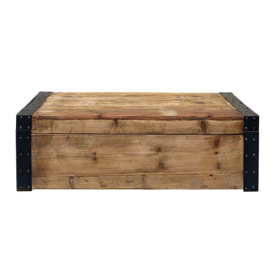 Table basse coffre industrielle - Transition