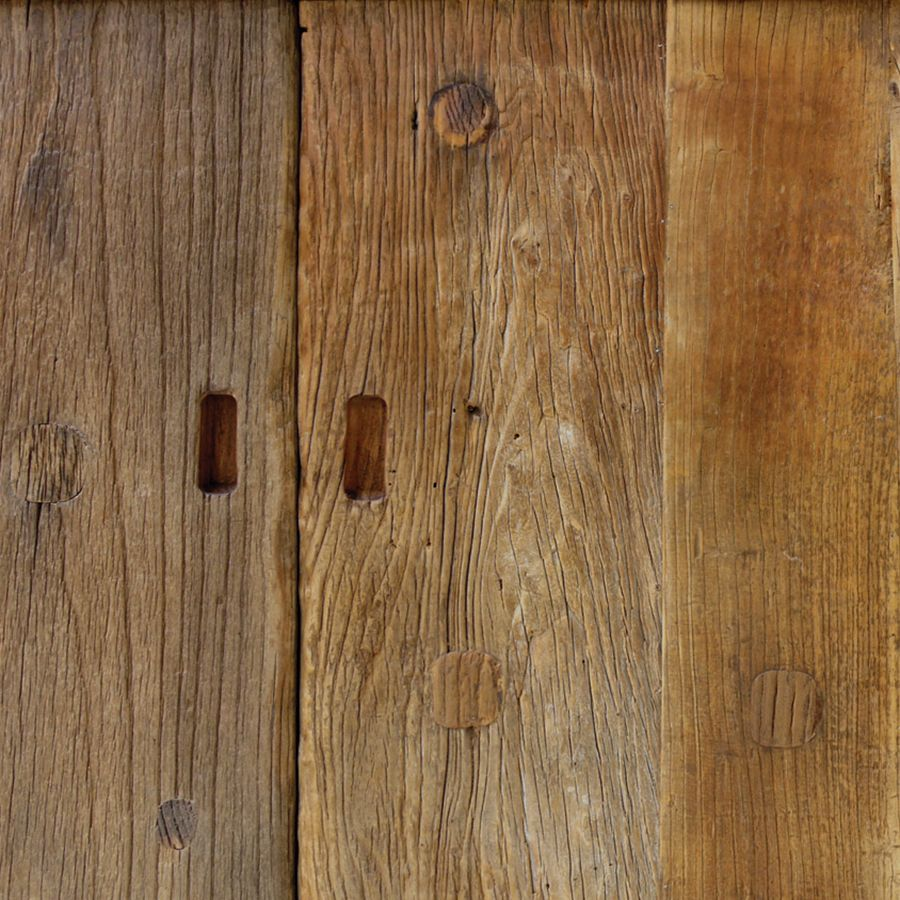 Meuble TV industriel en bois recyclé - Transition