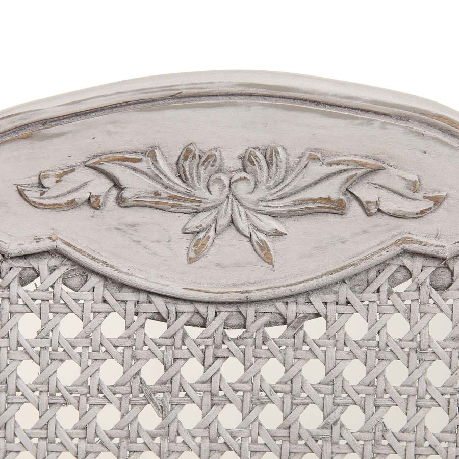 Chaise Jeanne en tissu et pin massif gris argenté - Château