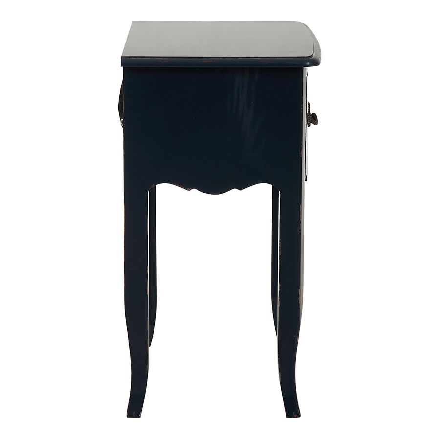 Table de chevet bleu indigo 1 tiroir en épicéa