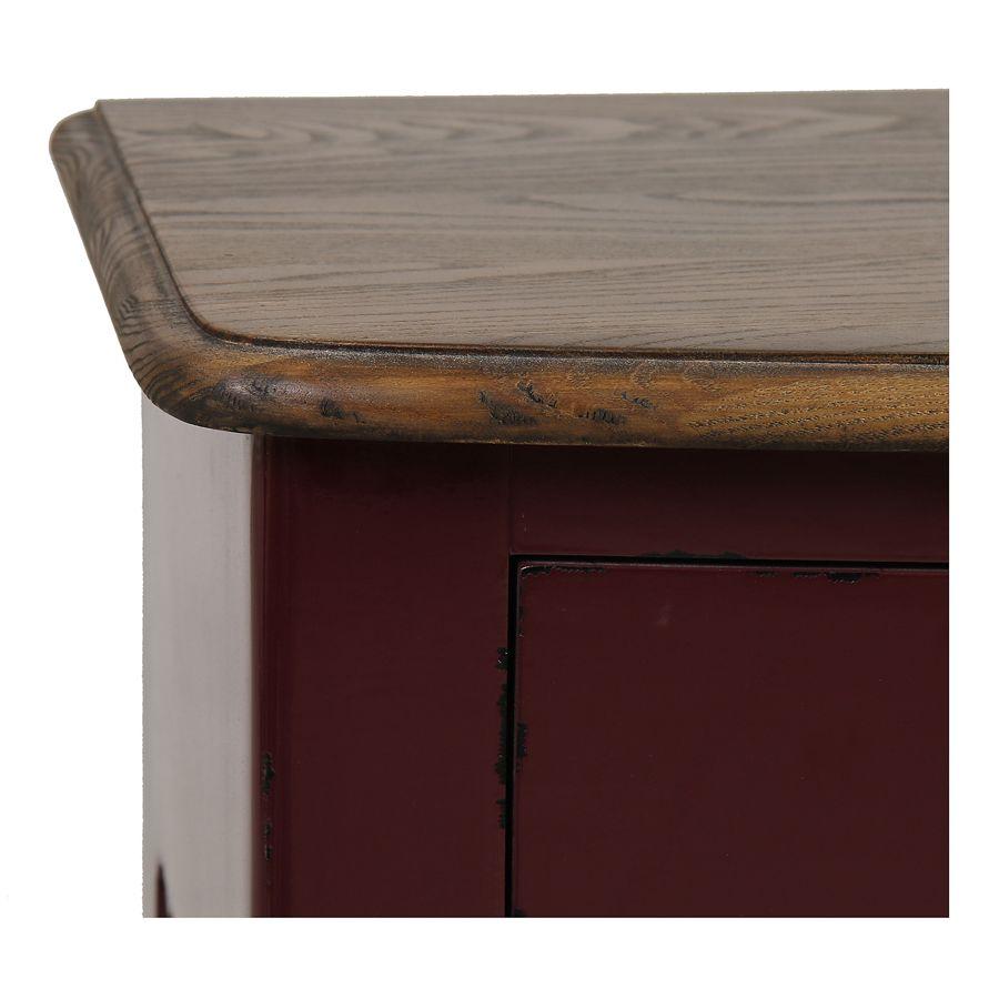 Console lie de vin plateau en bois 3 tiroirs en épicéa