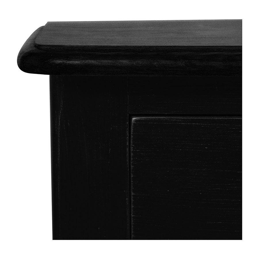 Console noir graphite 3 tiroirs en épicéa
