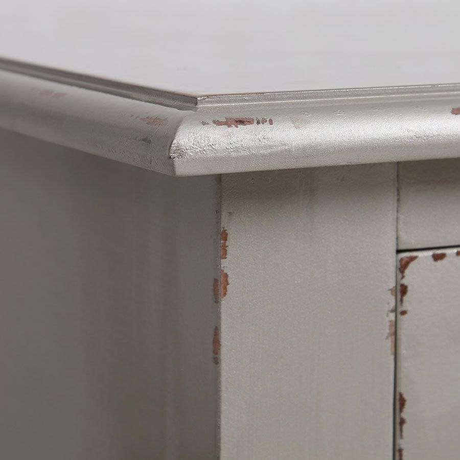 Bureau gris fumé 1 tiroir en épicéa