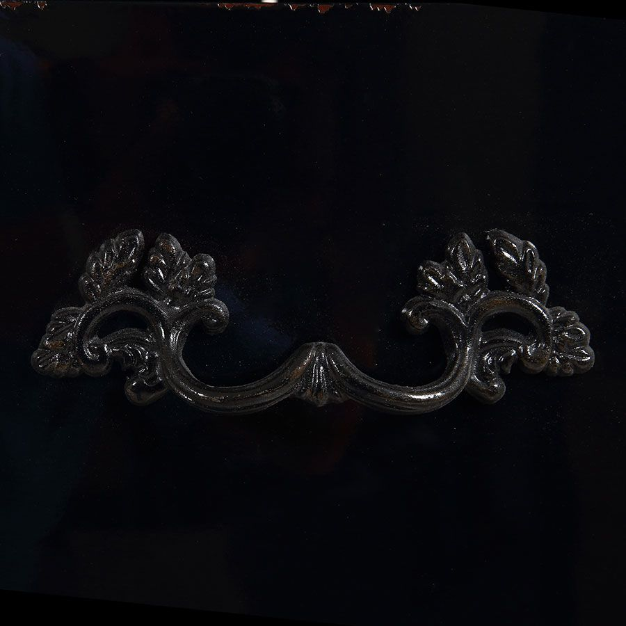 Commode chiffonnier 5 tiroirs noir graphite glossy