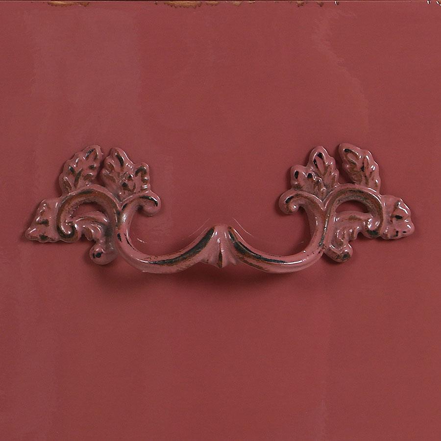 Commode semainier rose vieilli 5 tiroirs