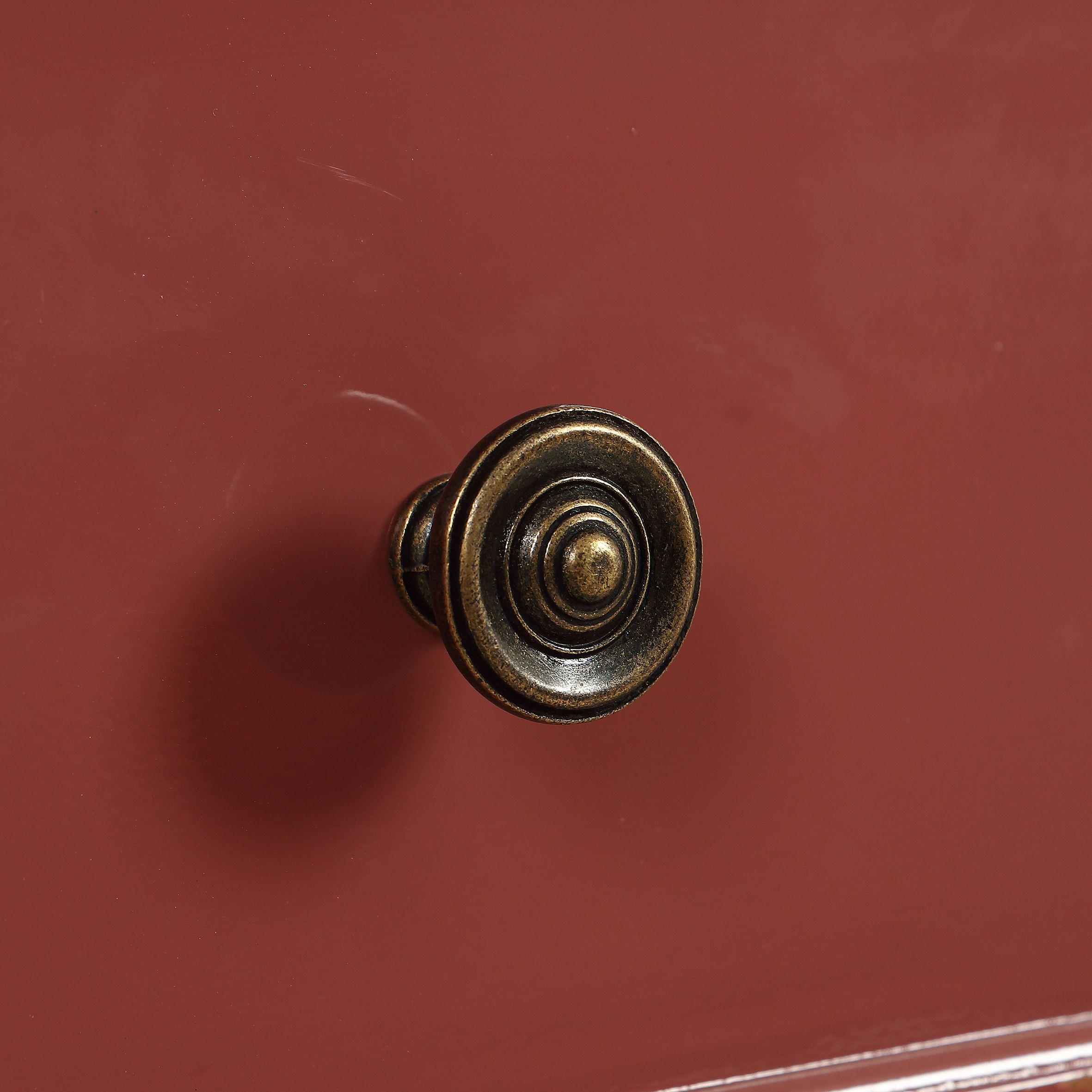Commode chiffonier vieux rose glossy 6 tiroirs