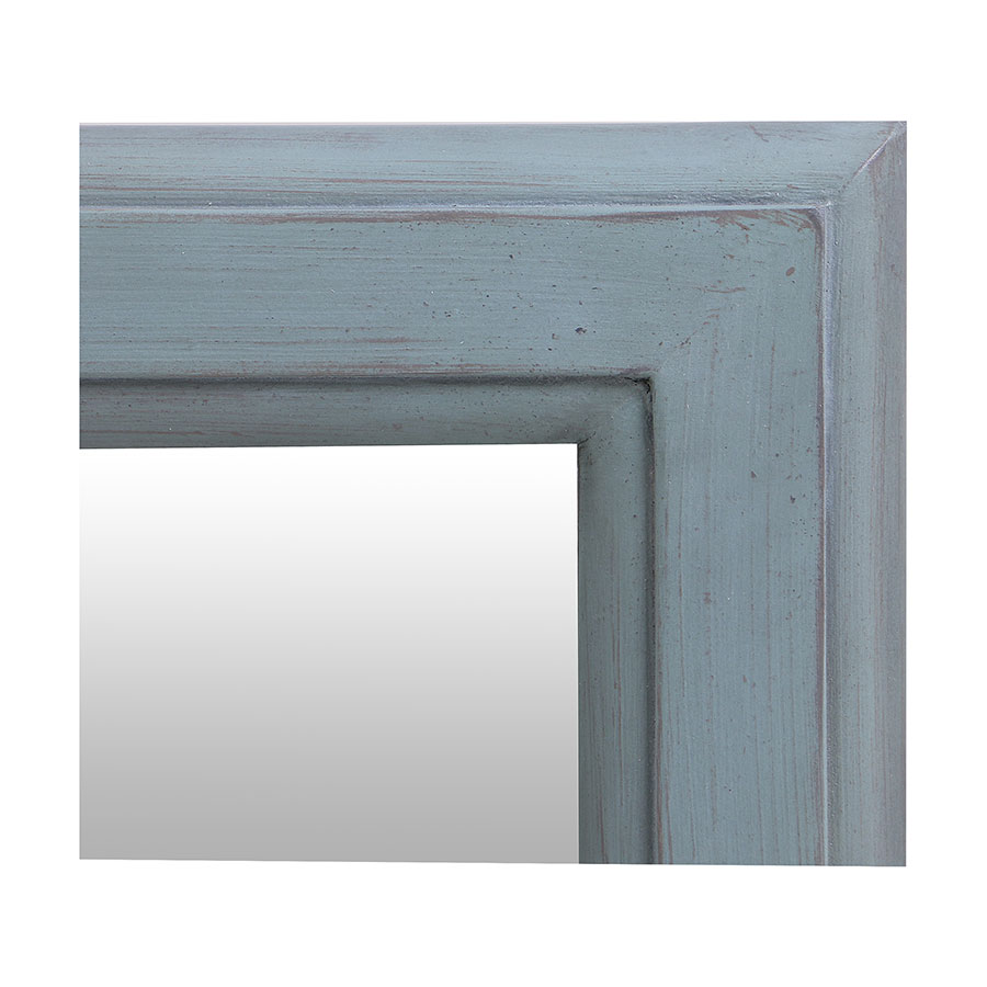 Miroir rectangulaire nuage de bleu patiné