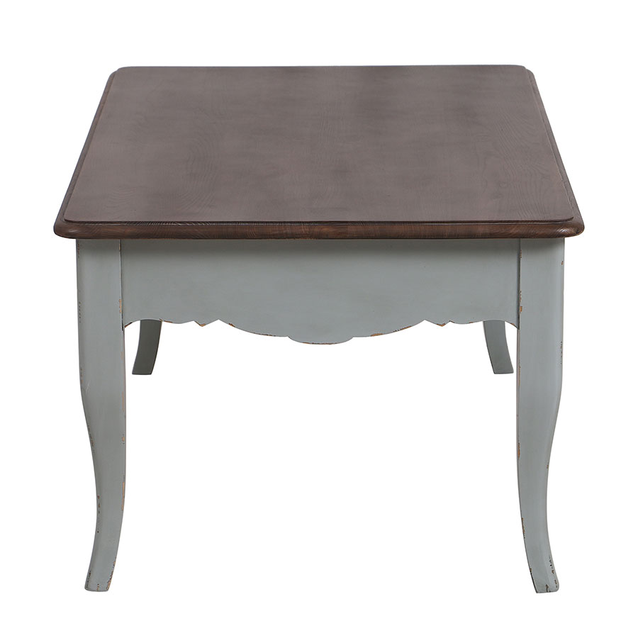 Table basse rectangulaire verte sauge