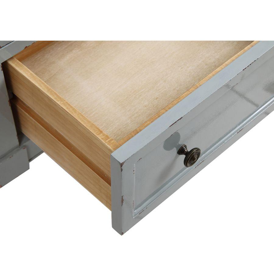 Petite commode 3 tiroirs vert sauge glossy