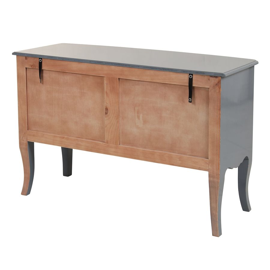 Commode 4 tiroirs gris souris glossy