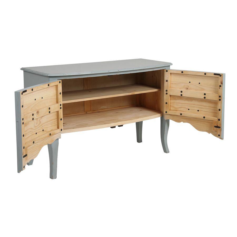 Commode 4 tiroirs vert sauge glossy