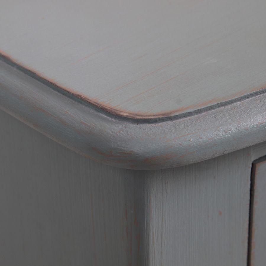 Commode 4 tiroirs nuage de bleu patiné