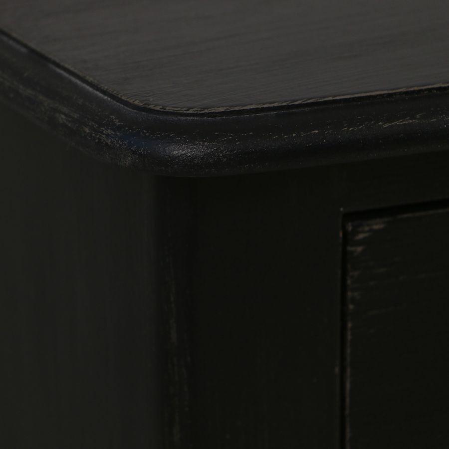 Commode 2 portes noire en épicéa