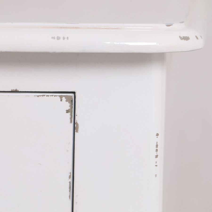 Commode blanche en épicéa 4 tiroirs
