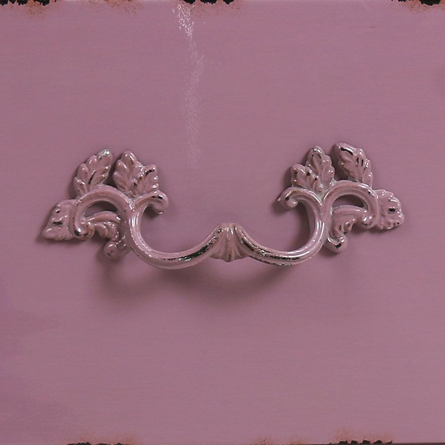 Commode 4 tiroirs en épicéa lilas L125 cm
