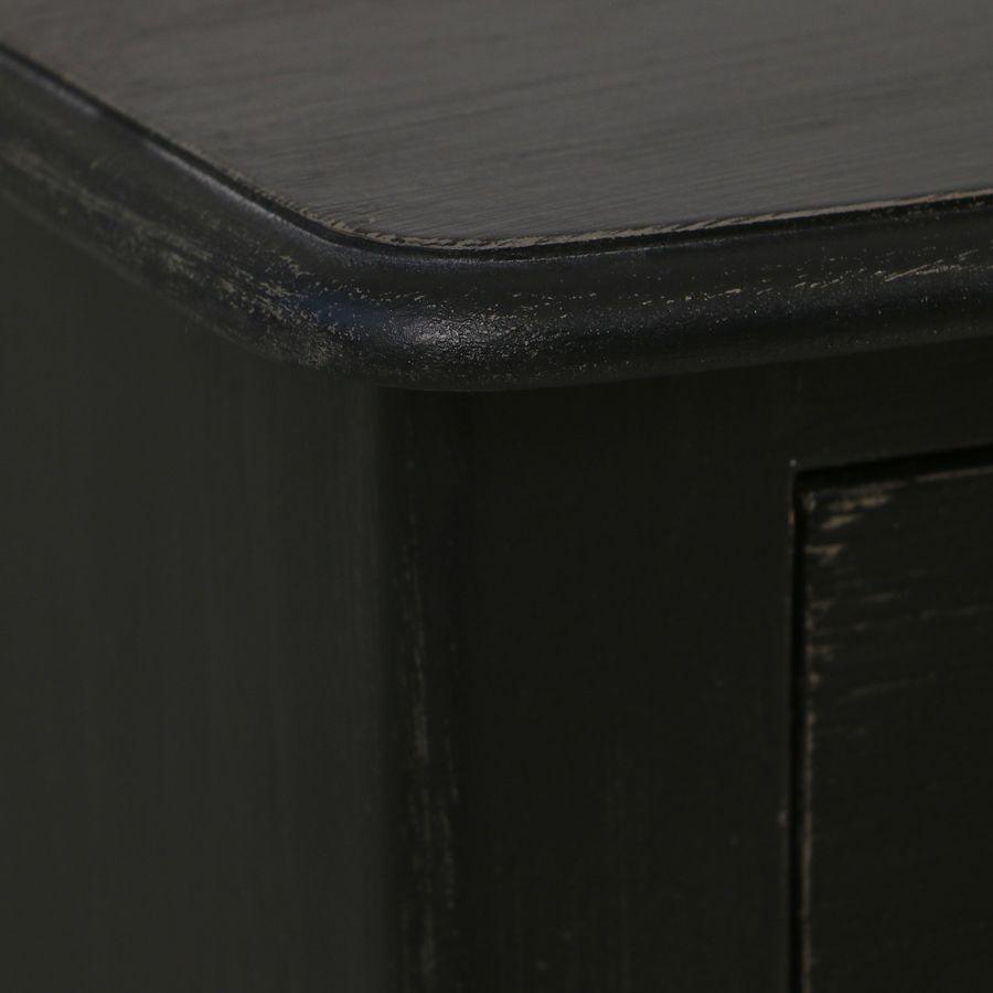 Commode noire 4 tiroirs en épicéa
