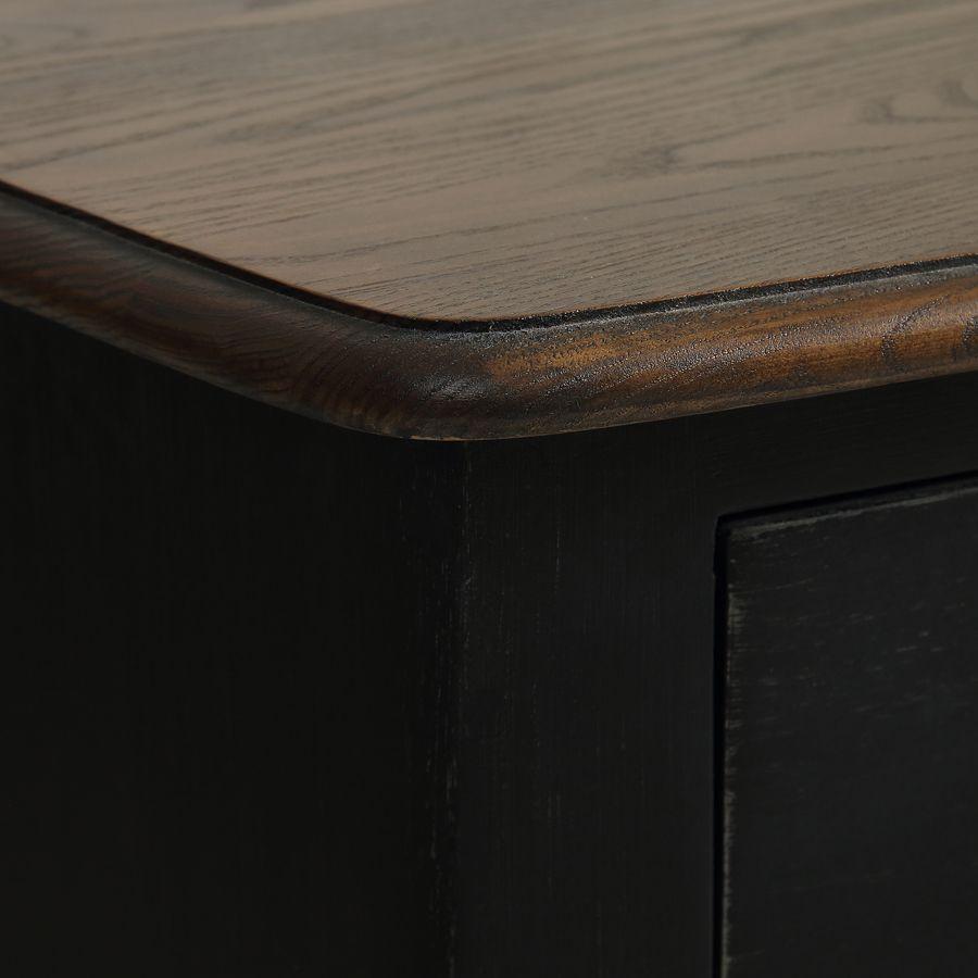 Commode noire patinée 4 tiroirs en épicéa