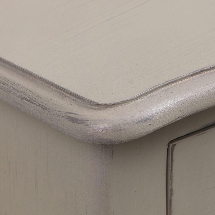 Petite commode gris patiné 3 tiroirs en épicéa