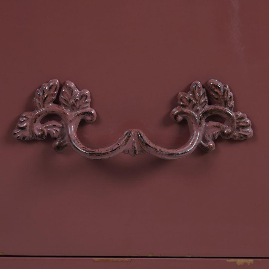 Commode 4 tiroirs vieux rose glossy